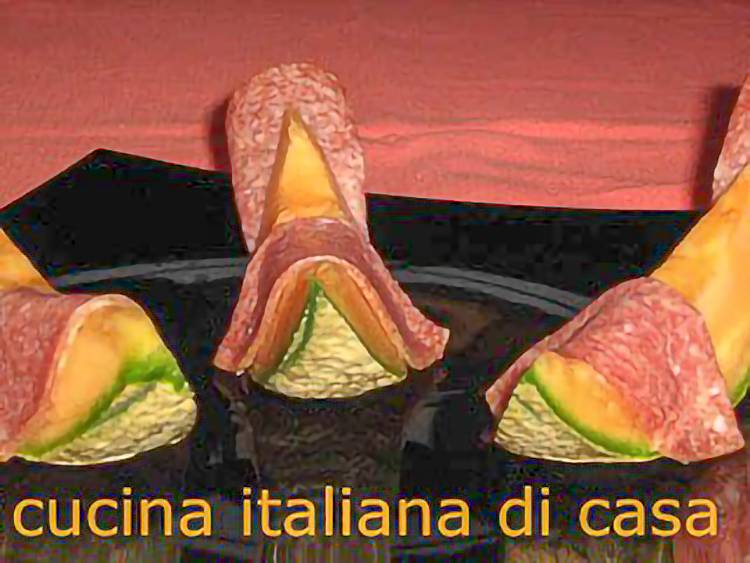 ricetta melone salame ungherese